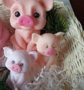 Мыло ручной работы свинки хрюшки