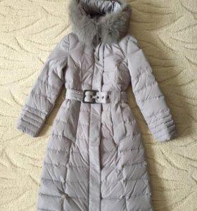 Удлинённая зимняя куртка .