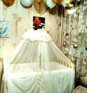 Комплект в детскую кроватку «Облачка»