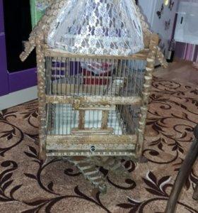 Клетка для птиц! Торг  реальному покупателю