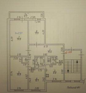 Квартира, 4 комнаты, 87.3 м²