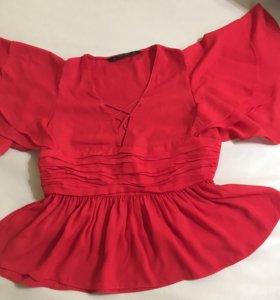 Блуза красная  Zara