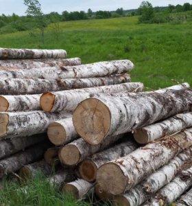 Деловая древесина,лес кругляк(дуб,липа,береза,осин