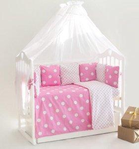 Набор в детскую кроватку 18 предметов
