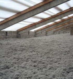 утепляем крыши стены дома коттеджи эковатой