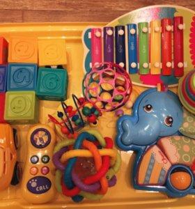 Пакет игрушек Fisher price,Chicco, Elc 13 игрушек