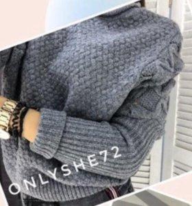 Тёплый серый свитер