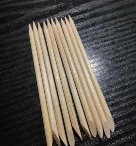 10 шт апельсиновые палочки для маникюра