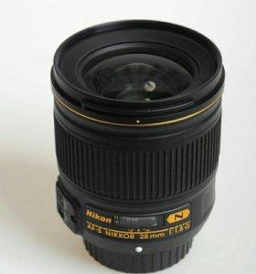 Объектив Nikon 28mm f/1.8G AF-S Nikkor