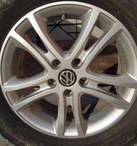 Литые диски R16 стояли на Volkswagen Tiguan I