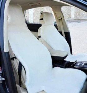 Меховые накидки на сиденье авто