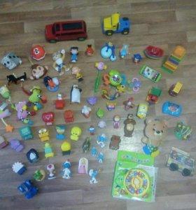 Игрушки пакетом + подарок