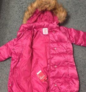 Новая зимняя куртка-пуховик для девочки, 104 рост