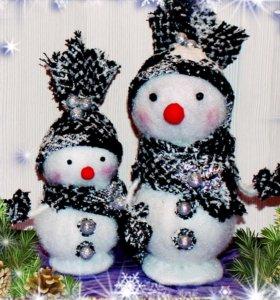Снеговик. Новогодний декор