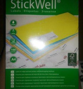 Этикетки самоклеящиеся для принтеров Stickwell