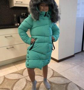 Зимнее пальто - пуховик moncler для девочек