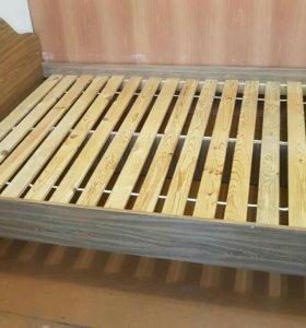 Кровать ЛДСП+деревянные толстые доски. БЕЗ МАТРАЦА