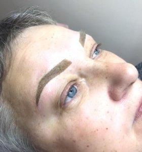Перманентный макияж в технике напыление
