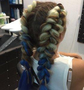 Плетение кос с канекалонами