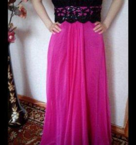 Платье в пол+ батильёны