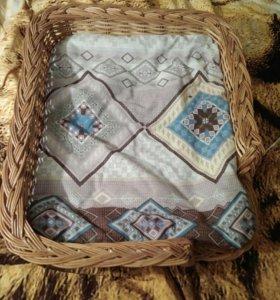 Лежанка плетёная