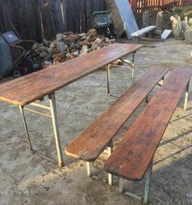 Комплект стол и скомейки