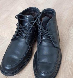 Ботинки кожаные мужские зимние