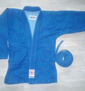 Куртка для самбо Nakover Blue