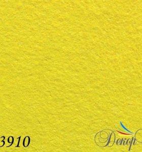 Жидкие хлопковые обои Хоппер √3910 цвет жёлтый