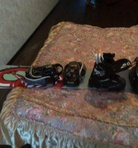 Доска, крепления, ботинки для сноуборда