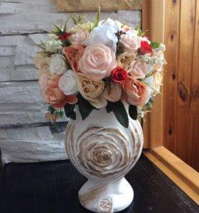 Арома вазы цветы из мыла с добавлением парфюма