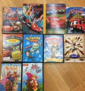 Диски с мультиками и книги для мальчиков