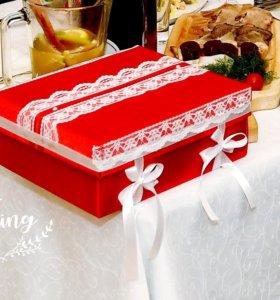 Свадебная шкатулка для денег (казна)