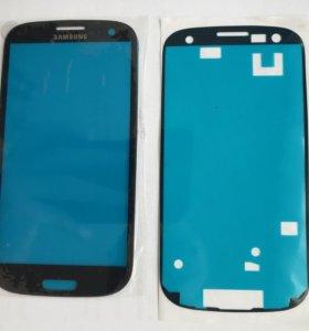 Стекло экран и скотч SAMSUNG Galaxy S3 GT-I9300