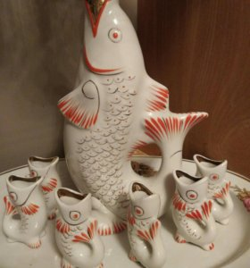 Штоф рыбка СССР (Набор коньячный)