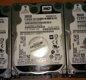 быстрые и надежные WD Black 500Gb 2.5 для ноутбука