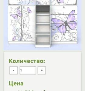 Детская кровать-чердак +модульная система Леди-1
