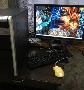 Компьютер для игр  в сборе с монитором на 24