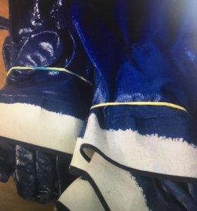 Перчатки прорезиненные новые
