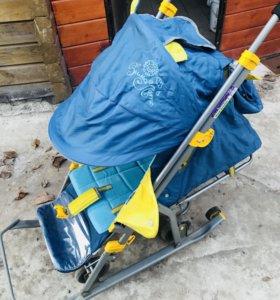 Санки-коляска НИКА (с колёсами)