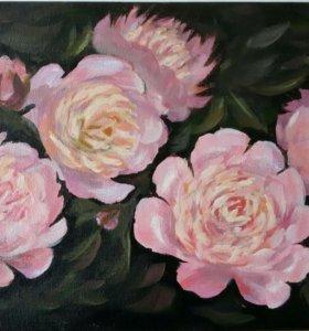 """Картина """"Розовые пионы"""""""