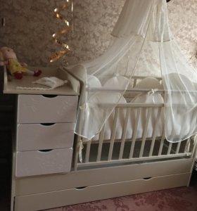 Кроватка-трансформер Жираф