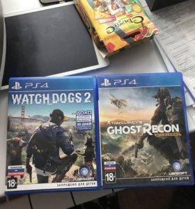 Игры ps4 watch dogs 2, ghost recon wildlands