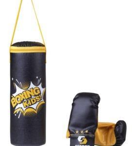 Набор для бокса E1455, кожзам, черный, Effort