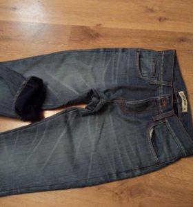 Утеплённые мужские джинсы