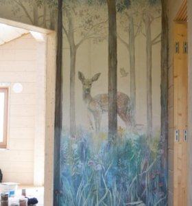 Роспись стен, декор, аэрография.
