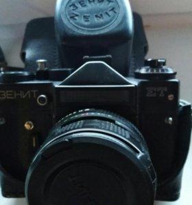 Фотоаппапат Зенит ет с объективом Helios-44М-5