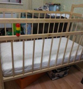кроватка детская с набором