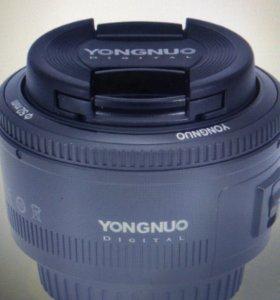Объектив yangnuo 50 mm f 1.8