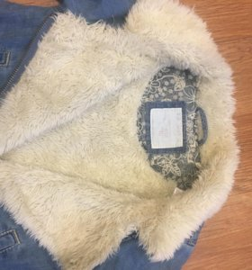 Курточка джинсовая утеплённая